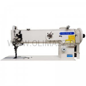 Lockstitch machine OLISEW OL-1560N-HL18 with 2 needles, compound transport and long arm