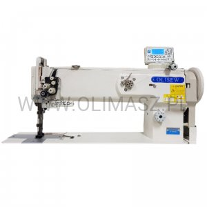Lockstitch machine OLISEW OL-1560N-HL18-7 with 2-needles, compound transport and  automatic functions